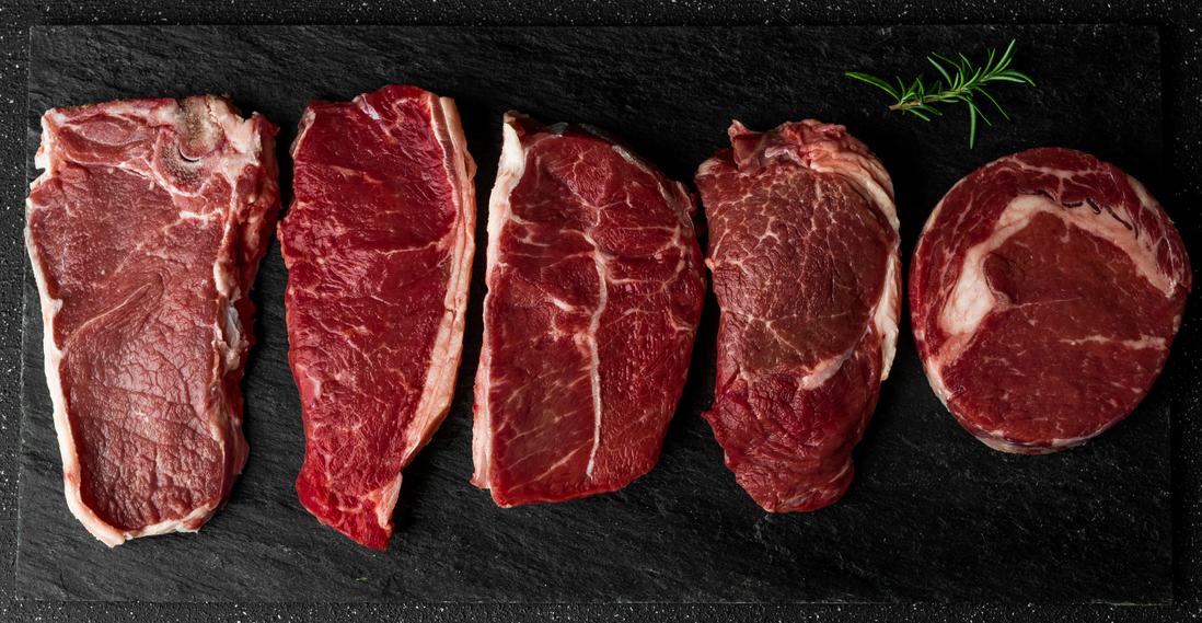 diffrent popular cuts of beef